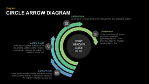 Circle Arrow Diagram PowerPoint Template and Keynote Slide