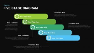 Five Stage Diagram PowerPoint Template and Keynote Slide