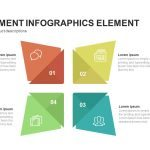 Four Segment Infographics Element Powerpoint and Keynote template