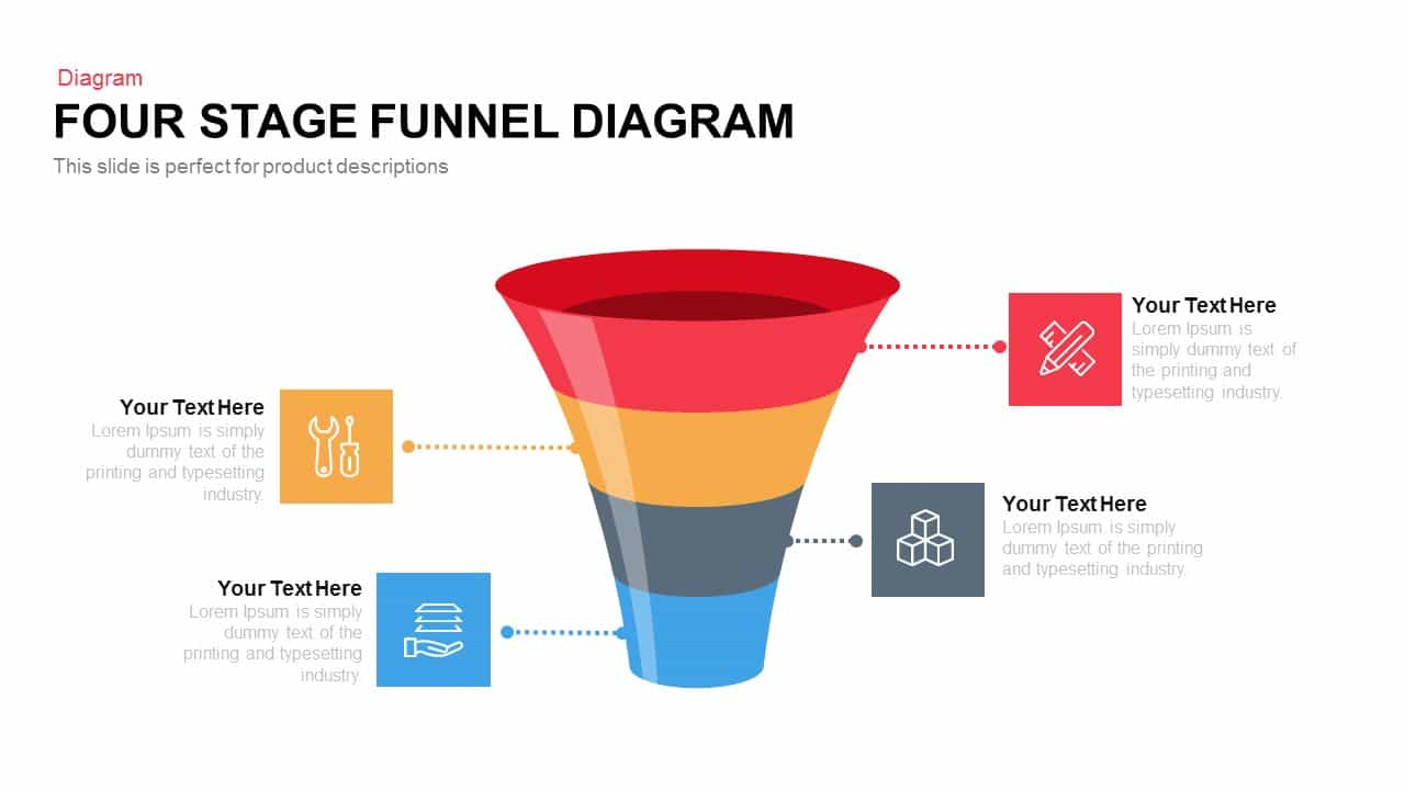 Four and five stage funnel diagram powerpoint and keynote template four and five stage funnel diagram powerpoint and keynote template pooptronica Images