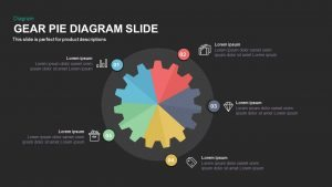Gear Pie chart PowerPoint Template and Keynote Slide