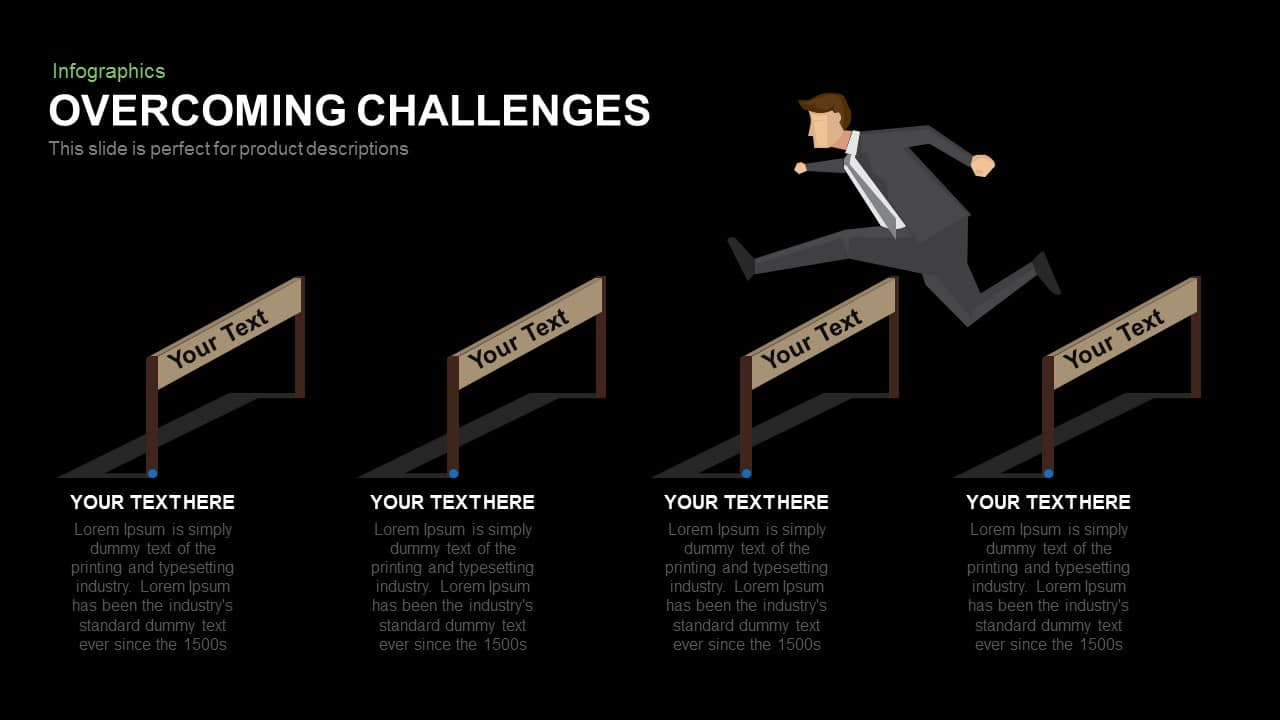 Overcoming Challenges Powerpoint and Keynote template