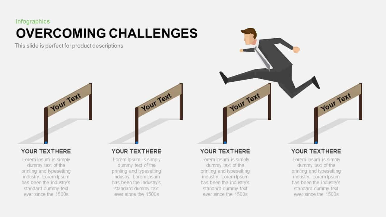 Overcoming challenges powerpoint and keynote template slidebazaar overcoming challenges powerpoint and keynote template toneelgroepblik Choice Image