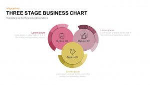 3 Stage Business Chart PowerPoint Template and Keynote Slide