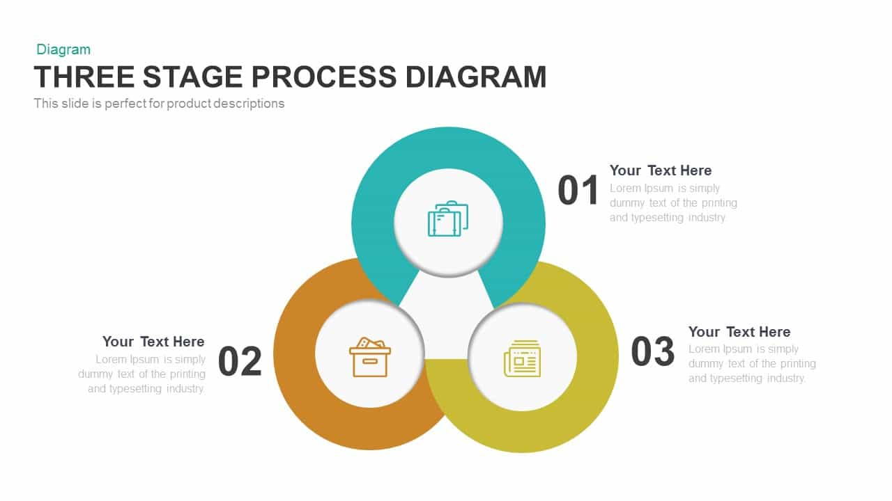 Three stage process diagram powerpoint template keynote slidebazaar three stage process diagram powerpoint template and keynote template ccuart Choice Image