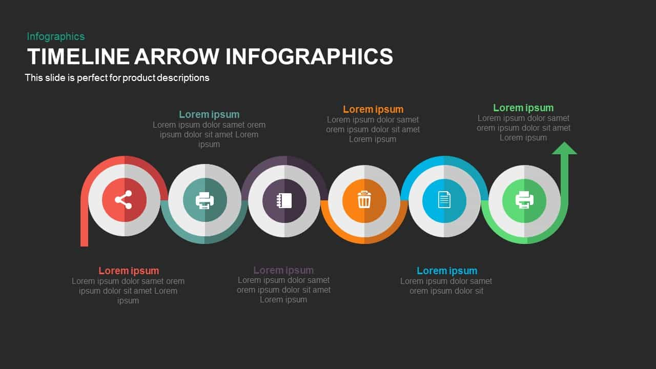 Timeline arrow infographics powerpoint and keynote template timeline arrow infographics powerpoint and keynote template toneelgroepblik Gallery