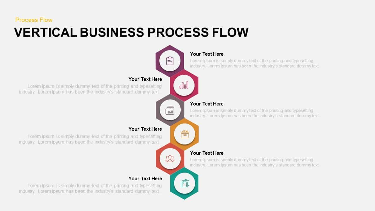 vertical business process flow PowerPoint template
