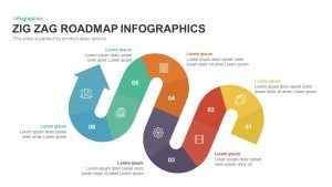 Zig Zag Roadmap Infographics PowerPoint Template and Keynote Slide