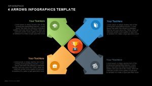 4 Arrows PowerPoint Infographics Slide and Keynote Template