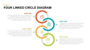 4 Linked Circle Diagram PowerPoint Template & Keynote