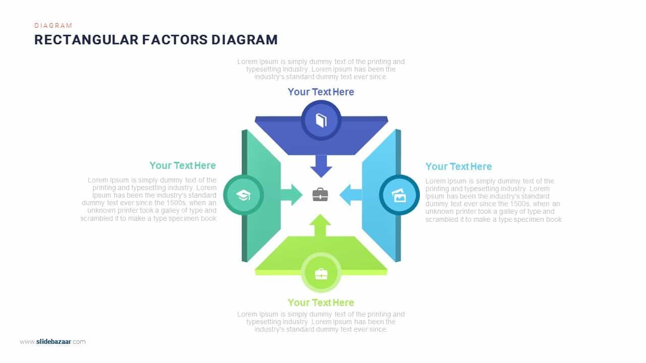 Rectangular Factors Diagram PowerPoint Template & Keynote Template