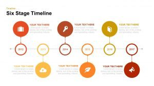 6 Stage Timeline PowerPoint Template and Keynote