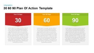 30 60 90 Day Plan Of Action Template for PowerPoint and Keynote