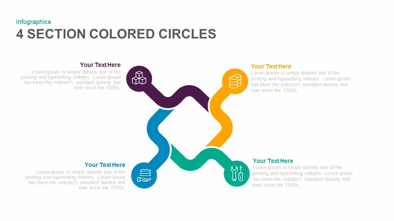 4 section colored circles powerpoint and keynote template 4 section colored circles powerpoint and keynote template ccuart Images