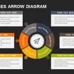 6 Processes Arrow Diagram Powerpoint and Keynote template