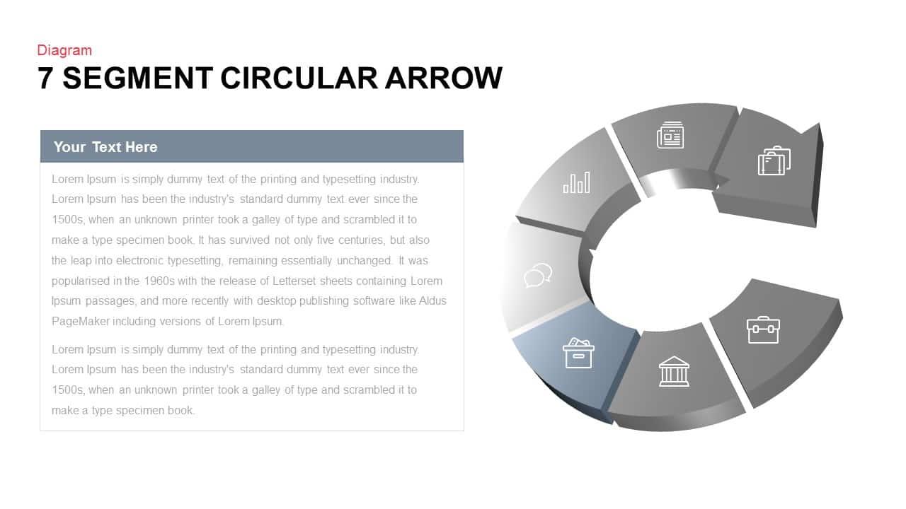 7 segment circular arrow powerpoint template slidebazaar 7 segment circular arrow powerpoint template ccuart Gallery