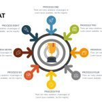 8 Step Flat Diagram Powerpoint and Keynote template