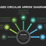 Eight Step Circular Arrow Diagram Powerpoint and Keynote template