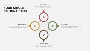 4 Circle Infographics Template for PowerPoint and Keynote