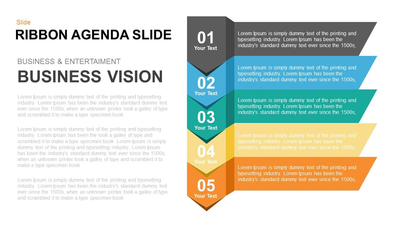 Ribbon Agenda Slide Powerpoint And Keynote Template Slidebazaar