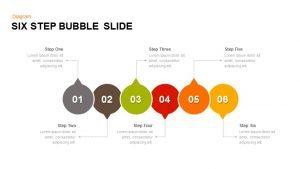 6 Step Bubble PowerPoint Template & Keynote Slide
