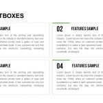 Textboxes Layouts Powerpoint and Keynote template