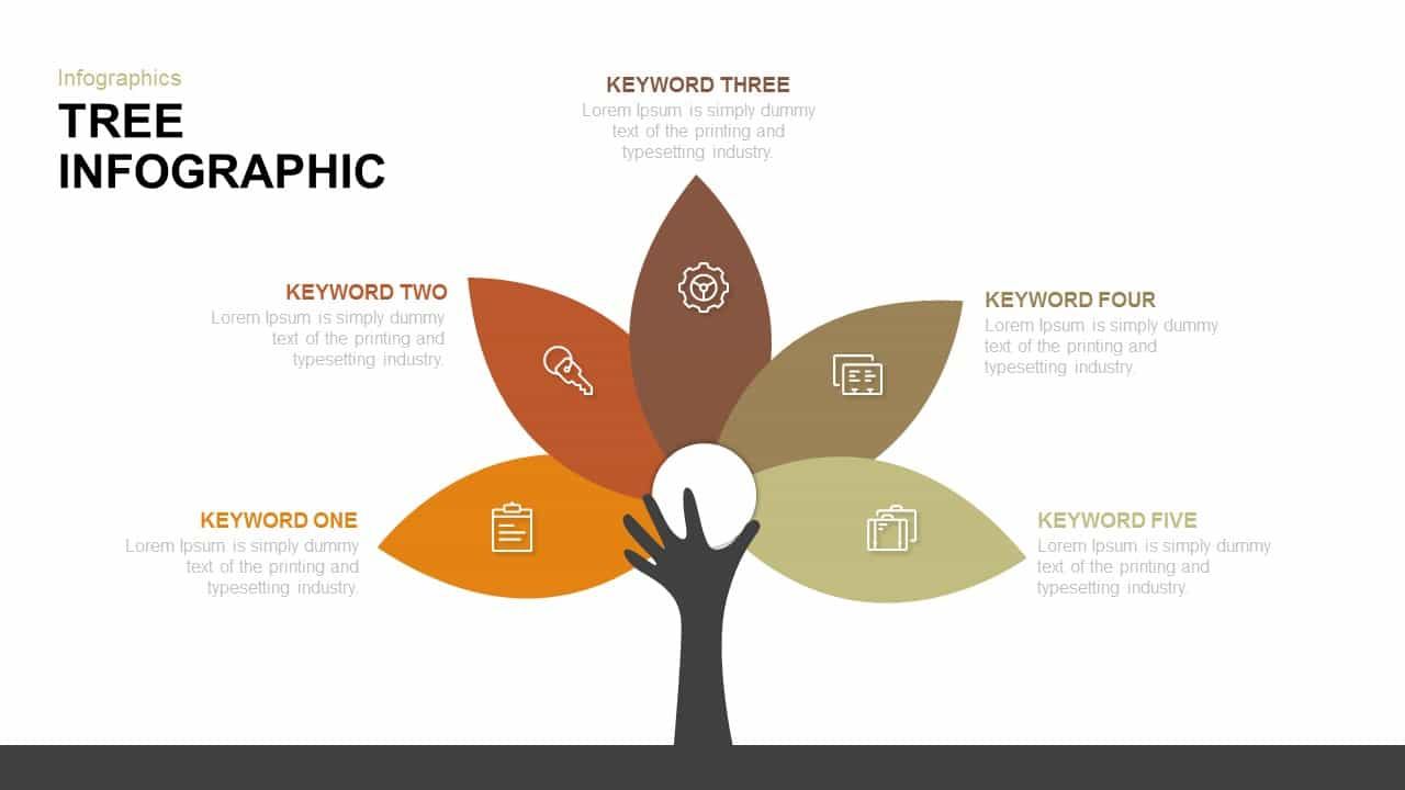 tree infographic PowerPoint template and keynote