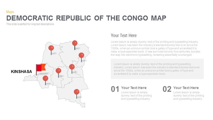 democratic republic of the congo map powerpoint and