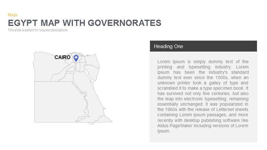 Egypt Map With governorates Powerpoint and Keynote template