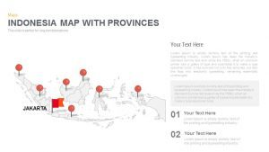 Indonesia Map With Provinces Powerpoint and Keynote template