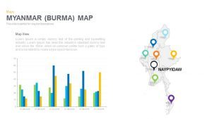 Myanmar (Burma) Map Powerpoint and Keynote template