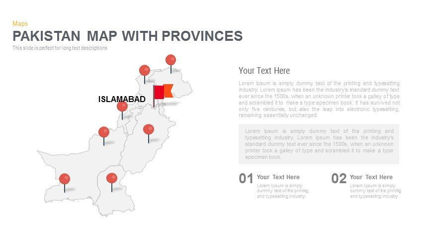 Pakistan Map Powerpoint and Keynote template
