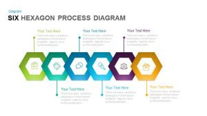 6 Hexagon Process Diagram PowerPoint Template and Keynote