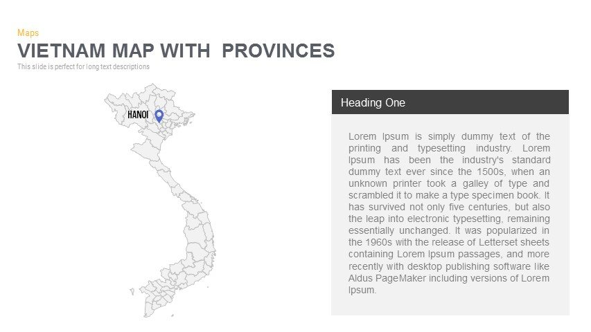 Vietnam Map With provinces Powerpoint and Keynote template