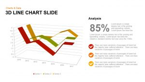 3d Line Chart PowerPoint Template and Keynote Slide