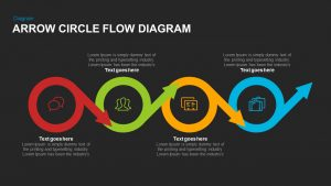 Arrow Circle Flow Diagram PowerPoint Template and Keynote