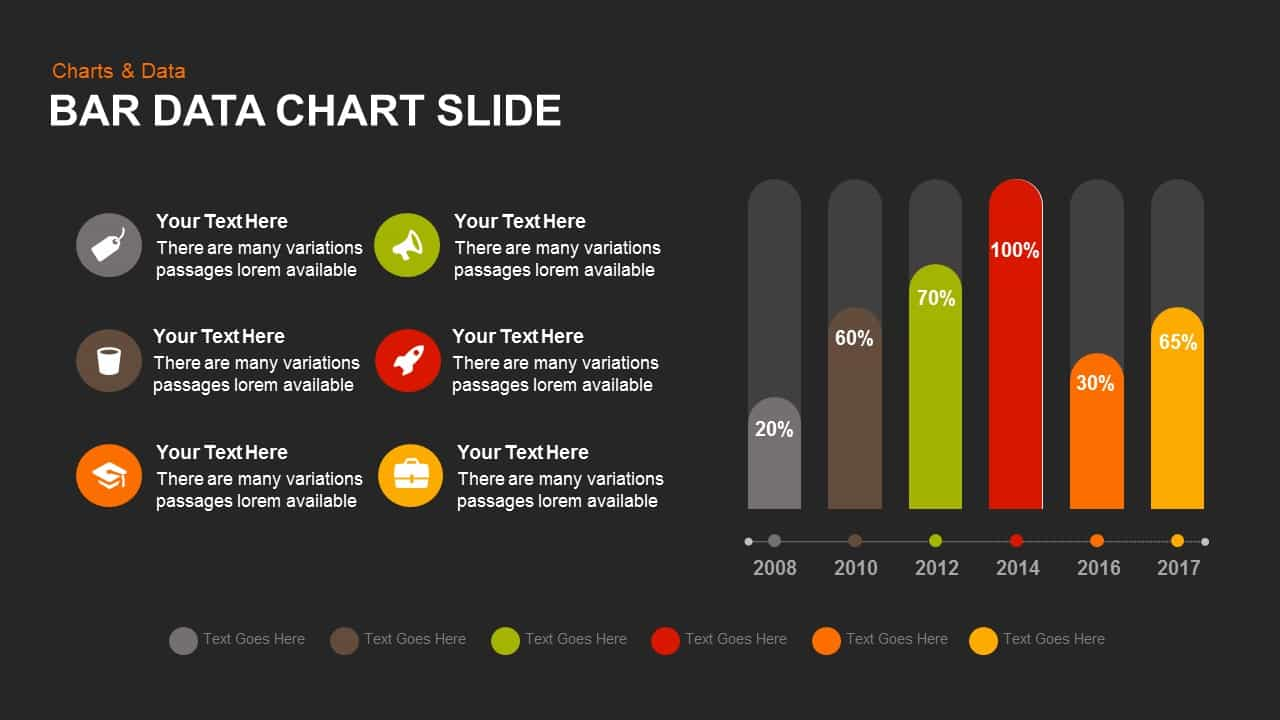 Bar Data Chart Powerpoint and Keynote template Slide - SlideBazaar