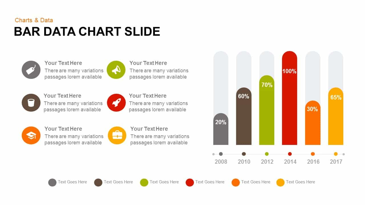 Data bar chart PowerPoint template and keynote