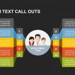 Team with Text Call Outs Powerpoint and Keynote template