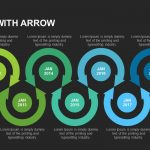 Timeline with Arrow Powerpoint and Keynote Slide