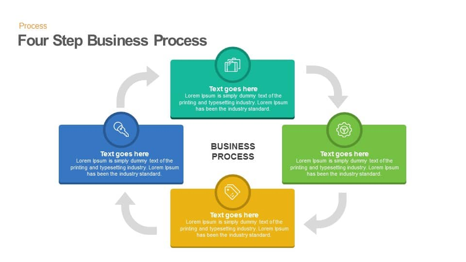 Four step business process keynote and powerpoint template slidebazaar four step business process powerpoint template cheaphphosting Gallery