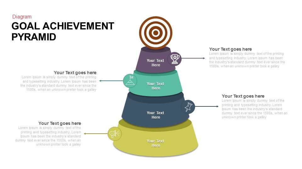 goal achievement pyramid keynote and powerpoint template - slidebazaar, Achievement Presentation Template, Presentation templates