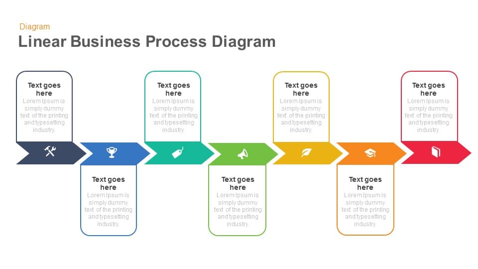 Linear Business Process Diagram Keynote And Powerpoint Template