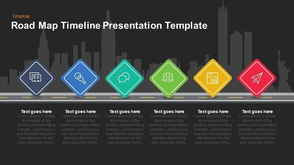 Road Map Timeline Presentation Keynote and Powerpoint Template