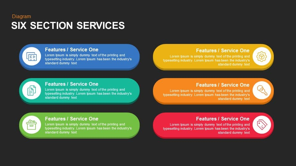 Service Boxes Powerpoint Template