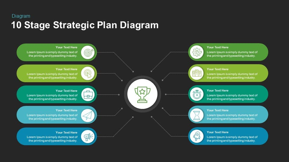 Stage Strategic Plan Diagram Keynote and Powerpoint Template