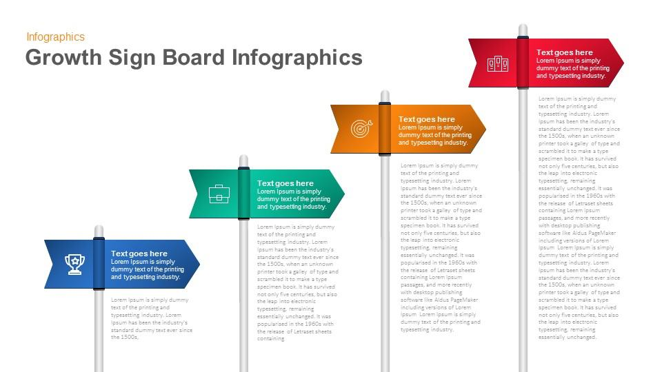 Growth Sign Board PowerPoint Template and Keynote