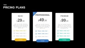 Pricing Plans Powerpoint and Keynote Template