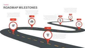 Milestone Roadmap PowerPoint Template and Keynote Slide