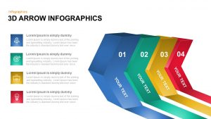 3D Infographic Arrow PowerPoint Template and Keynote Slide